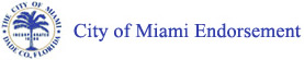 City of Miami Endorsement